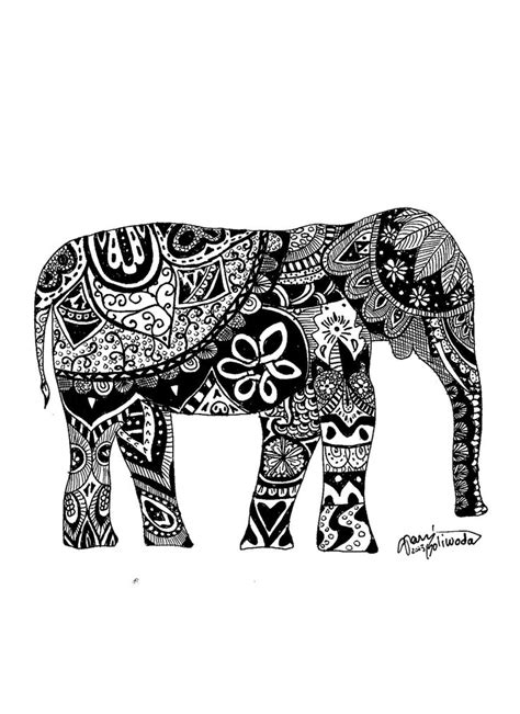indian elephant doodle humor theciaracatherine