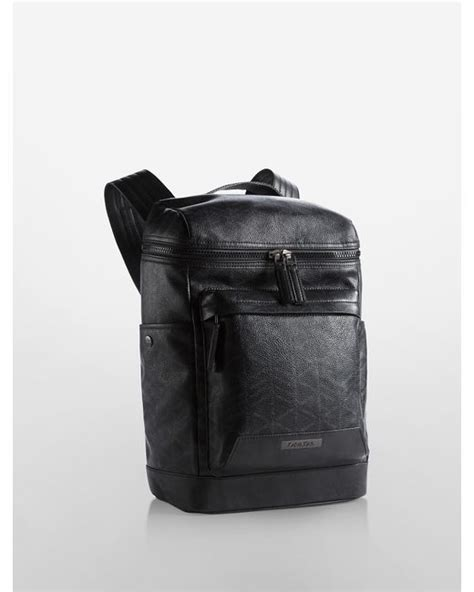 Ck Bag Backpack Black Ck20 calvin klein caden logo backpack in black for save 11 lyst