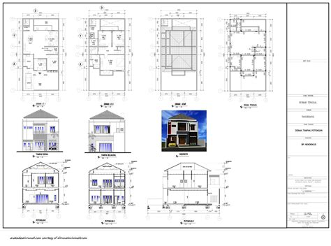luxury gambar denah rumah lengkap ide desain rumah modern minimalis