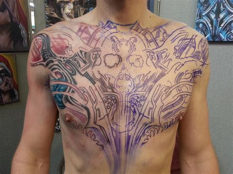 chest piece tattoo for men chest big planet community forum