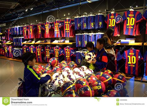 barcelona official store magasin officiel de fc barcelona photo 233 ditorial image