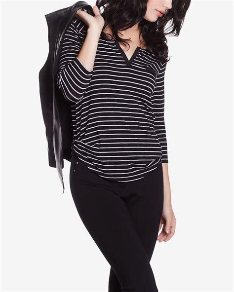 3 4 Sleeve Striped Shirt 3 4 sleeve striped t shirt petites reitmans
