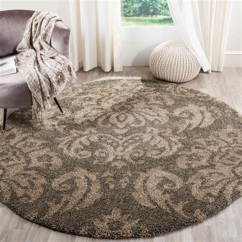 5 ft area rugs safavieh florida shag smoke beige 5 ft x 5 ft area rug sg460 7913 5r the home depot
