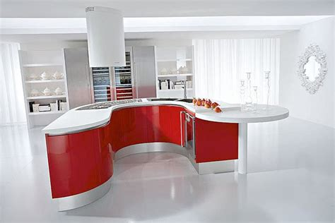 mobila de bucatarie cu forme rotunde este luxul pe care