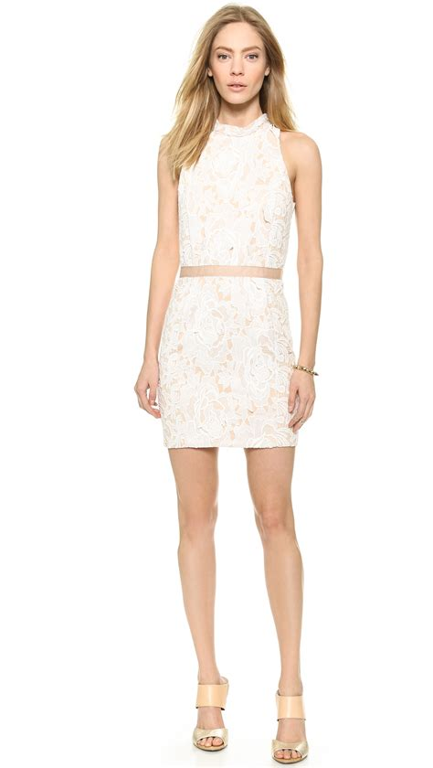 Mini Dress White Nerima lyst factory lace mini dress ivory in white