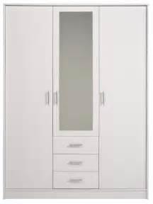 commander en ligne la garde robe ingrid 3 p miroir blanche