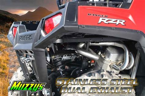 The Polaris Whisper muzzys exhaust for the polaris rzr 800 utv guide