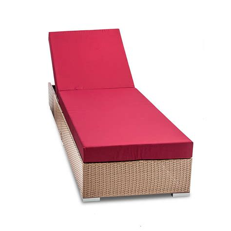 3 Cover Set Wicker Sun Lounger With 3 Cover Sets Brown
