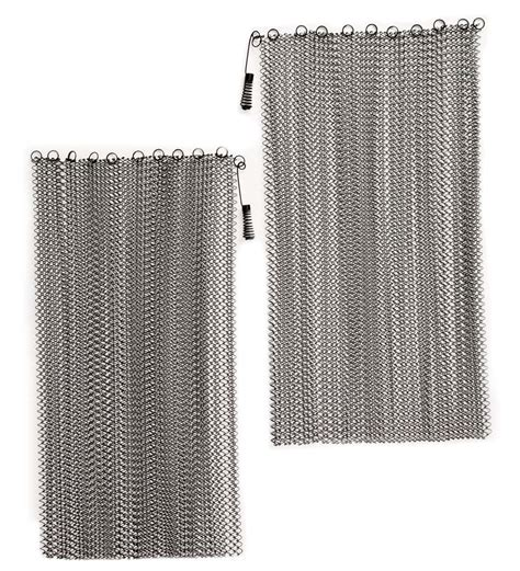 mesh curtain fireplace screen mesh curtain fireplace screen 24 quot l x 48 quot w collection