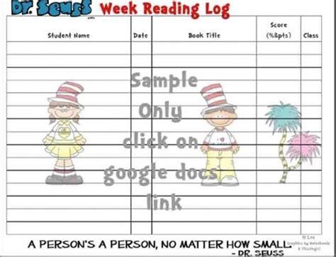 themes for reading logs 31 ideas for read across america teach junkie