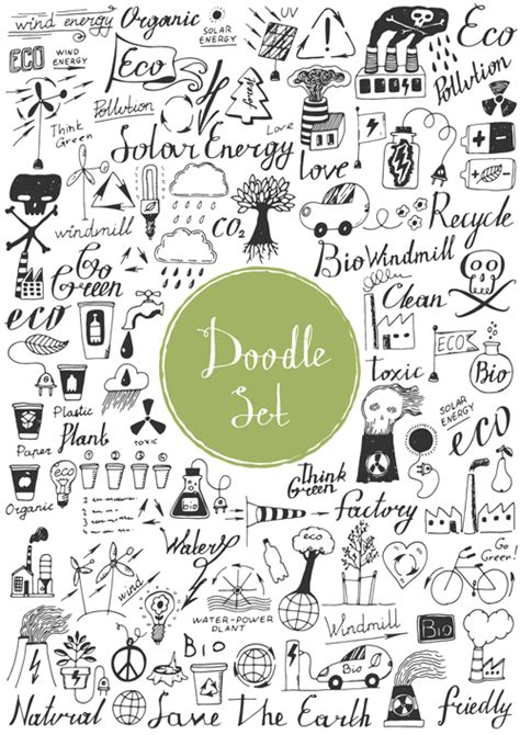 free doodle vector set doodle material vector set 18 vector other free