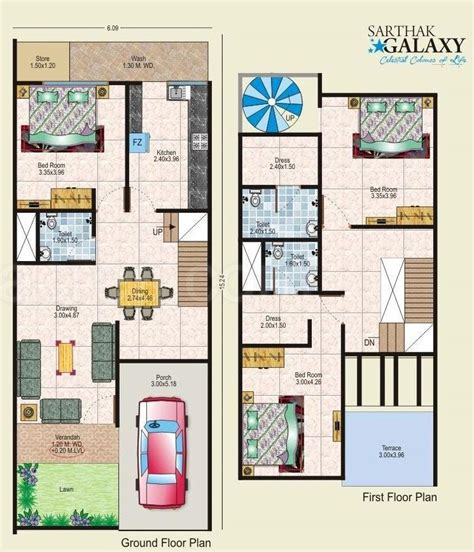 home design for 20x50 plot size floor plan sarthak estate developers sarthak galaxy at