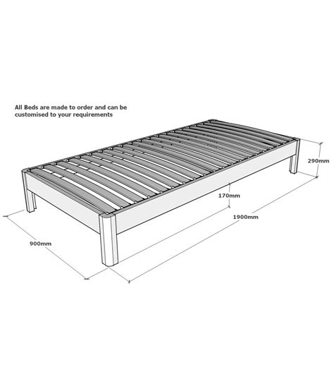Single Bed Frame Dimensions Standard Single Bed Frame Size Bed Frames Ideas