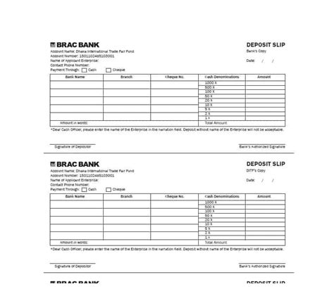 checking deposit slip template 37 bank deposit slip templates exles template lab