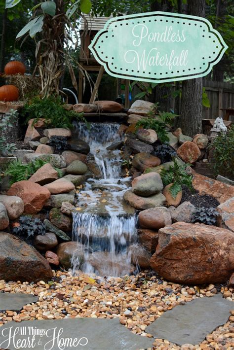 diy garden ideas 10 garden waterfalls and inspiration pondless waterfall all things heart and home