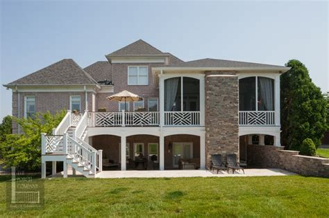 2 Story Home With Deck Two Story Deck Backyard Living