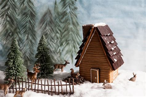 gingerbread log cabin template gingerbread house gingerbread house template