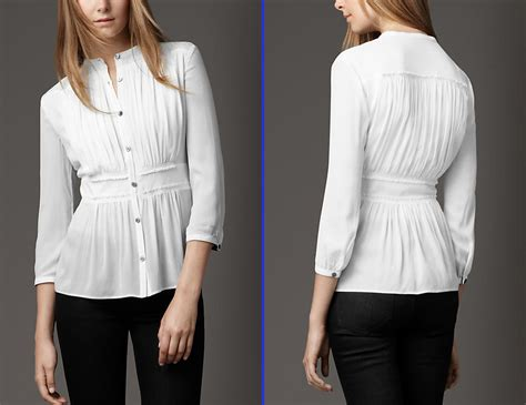 Branded Shirt White Tops For As Burberry Collection Branded