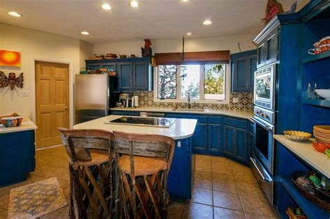 mexican kitchen cabinets traditional blue mexican kitchen interior design with blue