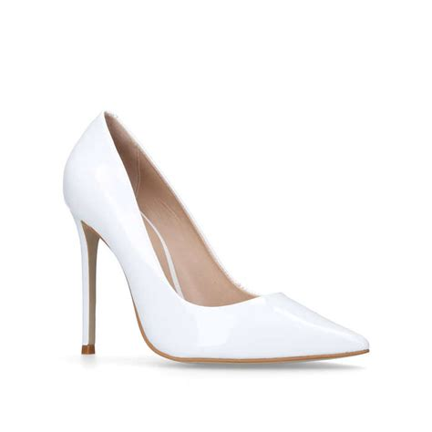 white high heeled shoes white high heel court shoes by carvela kurt geiger