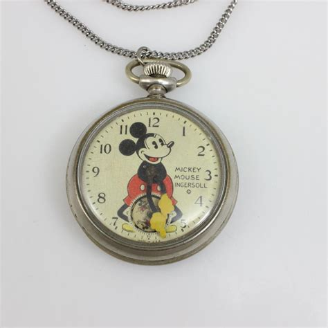 Mouse Pocket ingersoll vintage 1930s mickey mouse pocket