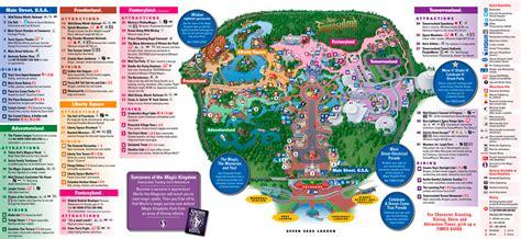 el magic resort map magig kingdom disney world orlando guia parque