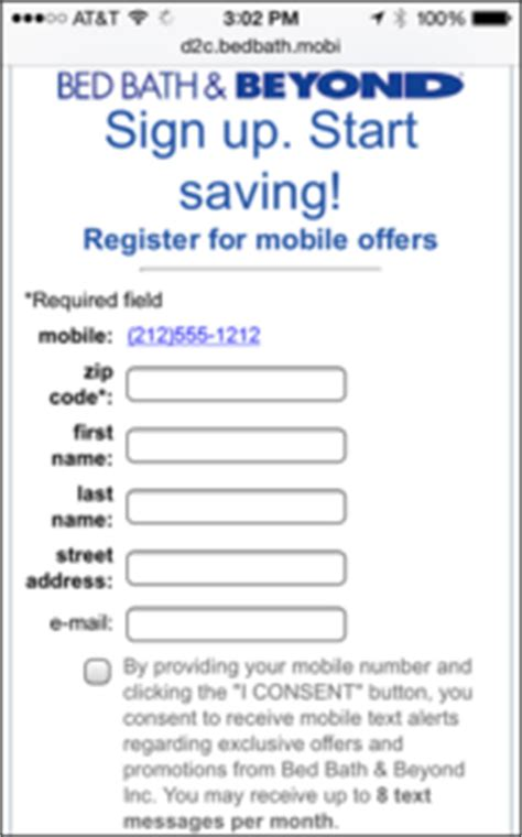 Bed Bath Beyond Mobile Coupon by Bed Bath Beyond Mobile Coupons Codebroker