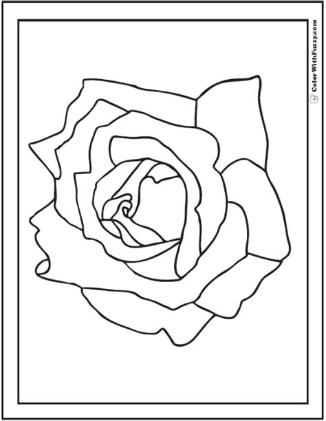 coloring pages of real roses simple rose coloring page