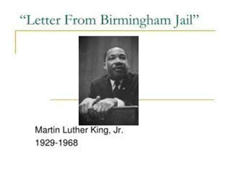Bates College Letter From Birmingham Ppt Mlk Letter From Birmingham Analysis Powerpoint Presentation Id 4958636