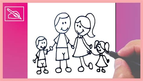 imagenes de una familia para dibujar faciles c 243 mo dibujar una familia joven how to draw a young