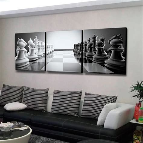 home depot wall decor furinno 24 in x 72 in quot chess quot printed wall art f948ch60