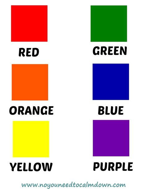 what color calms you down colors free printables no you need to calm down