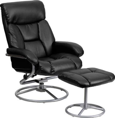 Black Recliner Chairs Sale Flash Furniture Contemporary Leather Recliner And Ottoman