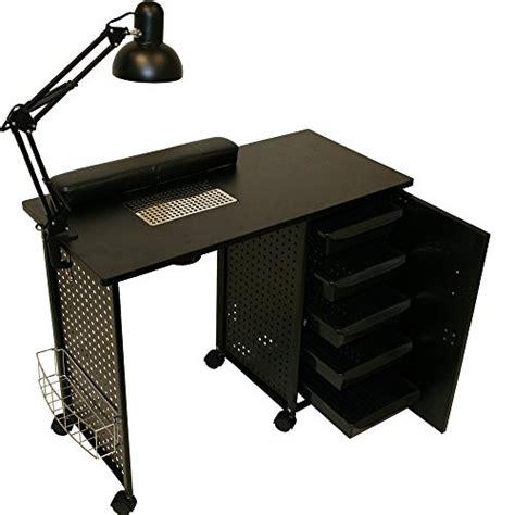 Desk L Cl lcl 2015 model black steel frame vented manicure nail table desk station spa salon