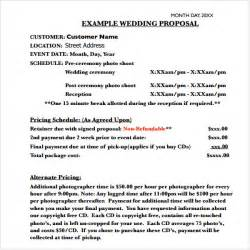 8 wedding proposal templates pdf