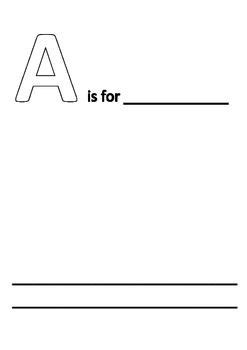 Simple Alphabet Book Template K 5 Alphabet Book Teacher And Teacher Tools Alphabet Book Template