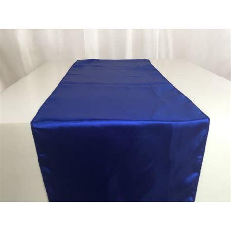 chemin de table en satin bleu roi vente