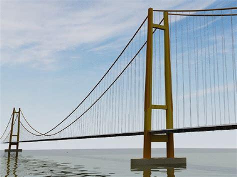 desain jembatan gantung besta s blog jembatan selat sunda jss