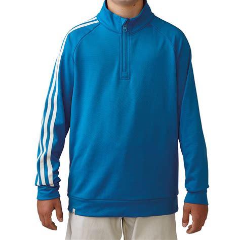 Hoodie Jumper Cjr Coboy Junior junior adidas 3 stripes sleeve 1 4 zip pullover golf sweater ebay