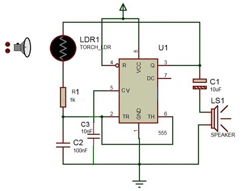 laser light detector circuit project theory laser based security alarm 555
