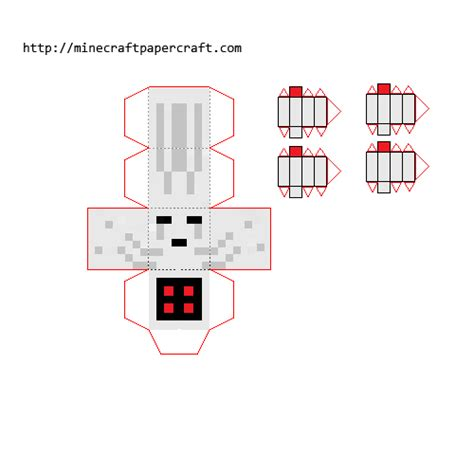 Minecraft Papercraft Ghast - papercraft clay nether