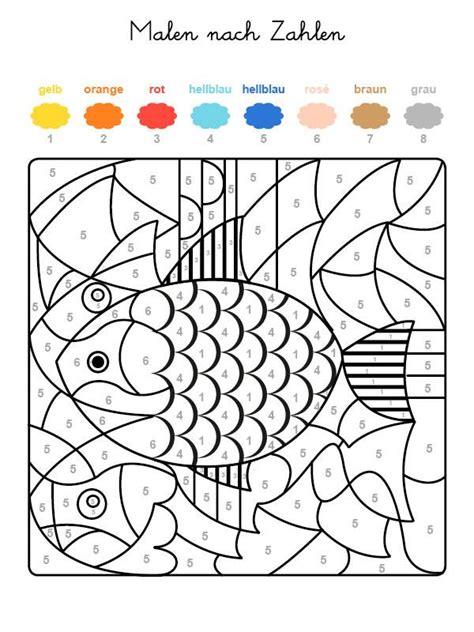 Beste Farben Zum Der Küchen Kabinette Zu Malen by Kostenlose Malvorlage Malen Nach Zahlen Fische Ausmalen