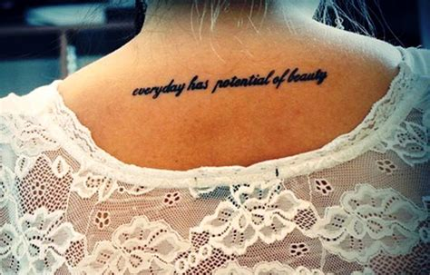 neck tattoo sayings 17 quotes back neck tattoos