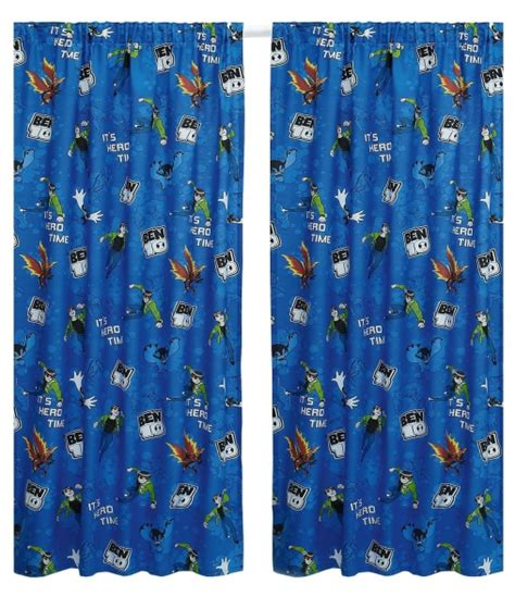 66 inch drop curtains ben 10 universe 66 x 54 inch drop curtain pair ebay