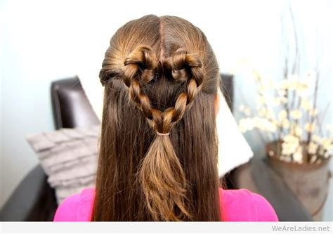 braided hairstyles heart twist braided heart hairstyle for women on valentine s day