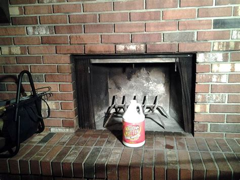 remove smoke and sot stains from your fireplace with just