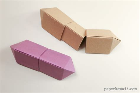 Advanced Modular Origami - origami gem box version paper kawaii