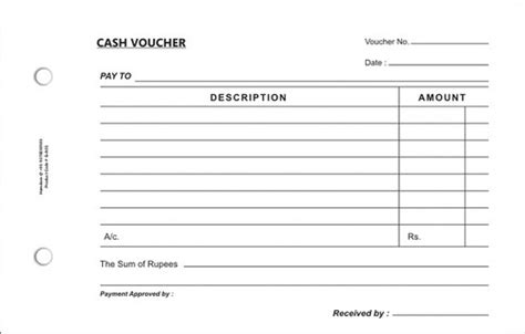 Credit Voucher Format In Word 4 Free Voucher Templates Word Excel Pdf Formats