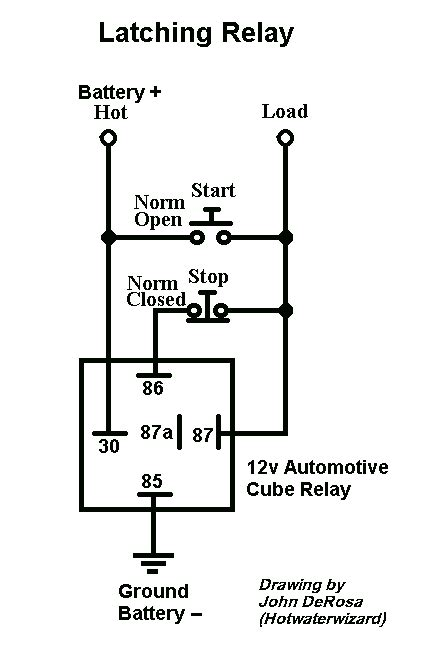 latching relay for fog lamps