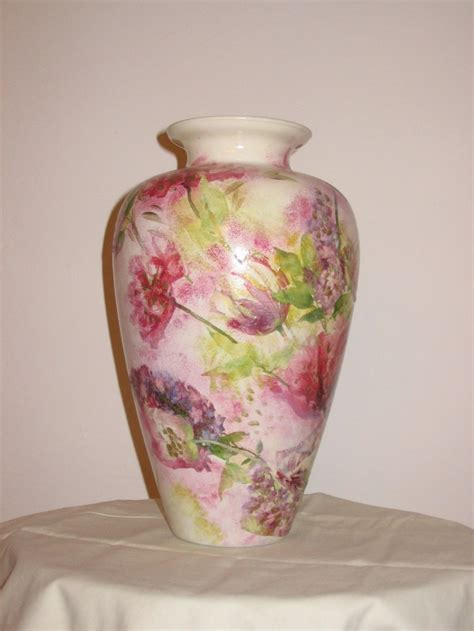 Decoupage Glass Vase - 96 best ideas about decoupage on botanical